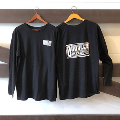 Quayle's Long Sleeved Black Cotton Shirt