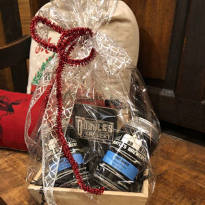 Small Wrapped Holiday Gift Basket