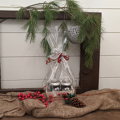 Small Wrapped Gift Basket